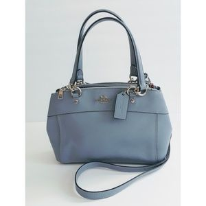 Coach Satchel Bag Light Blue W/ Detachable Strap